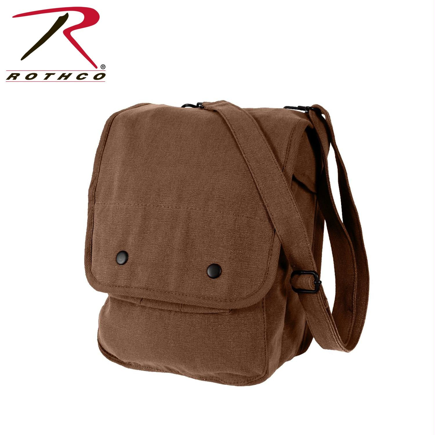 Rothco Canvas Map Case Shoulder Bag - Earth Brown