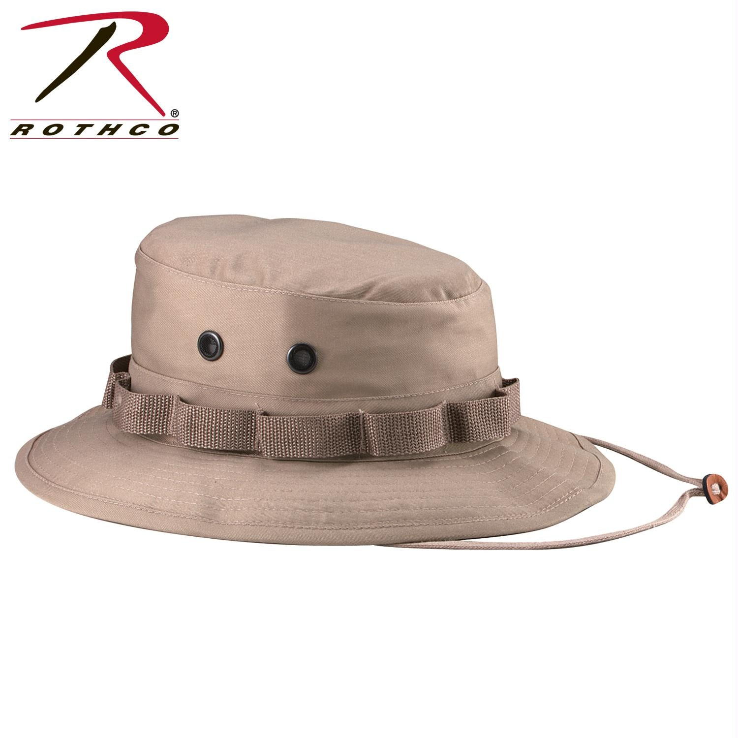 Rothco 100% Cotton Rip-Stop Boonie Hat - Khaki / 7 3/4