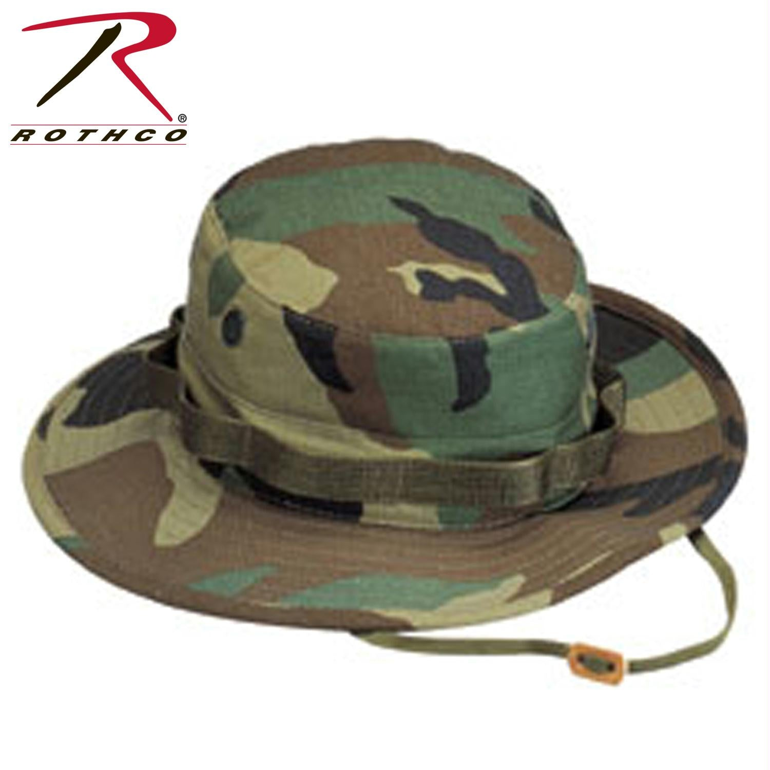Rothco 100% Cotton Rip-Stop Boonie Hat - Woodland Camo / 7