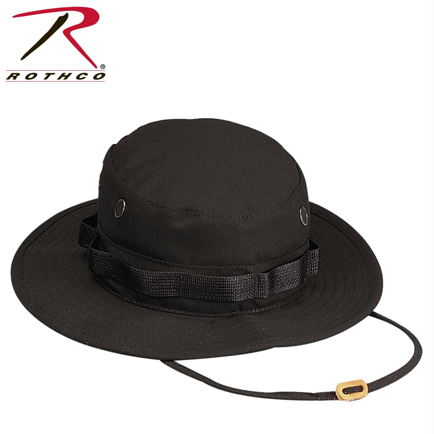 Rothco 100% Cotton Rip-Stop Boonie Hat - Black / 7 3/4