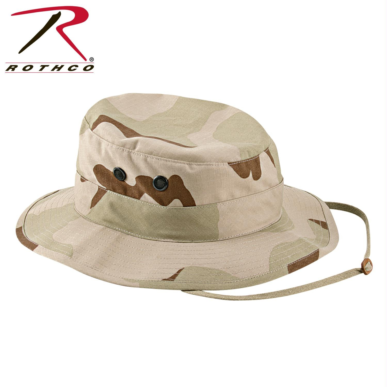 Rothco Poly/Cotton Rip-Stop Boonie Hat - Tri-Color Desert Camo / 7