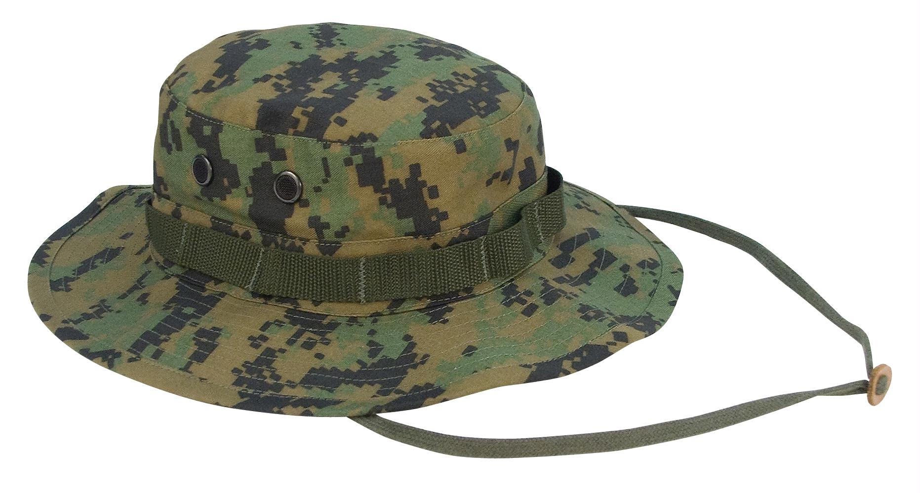 Rothco Digital Camo Boonie Hat - Woodland Digital Camo / 7 3/4