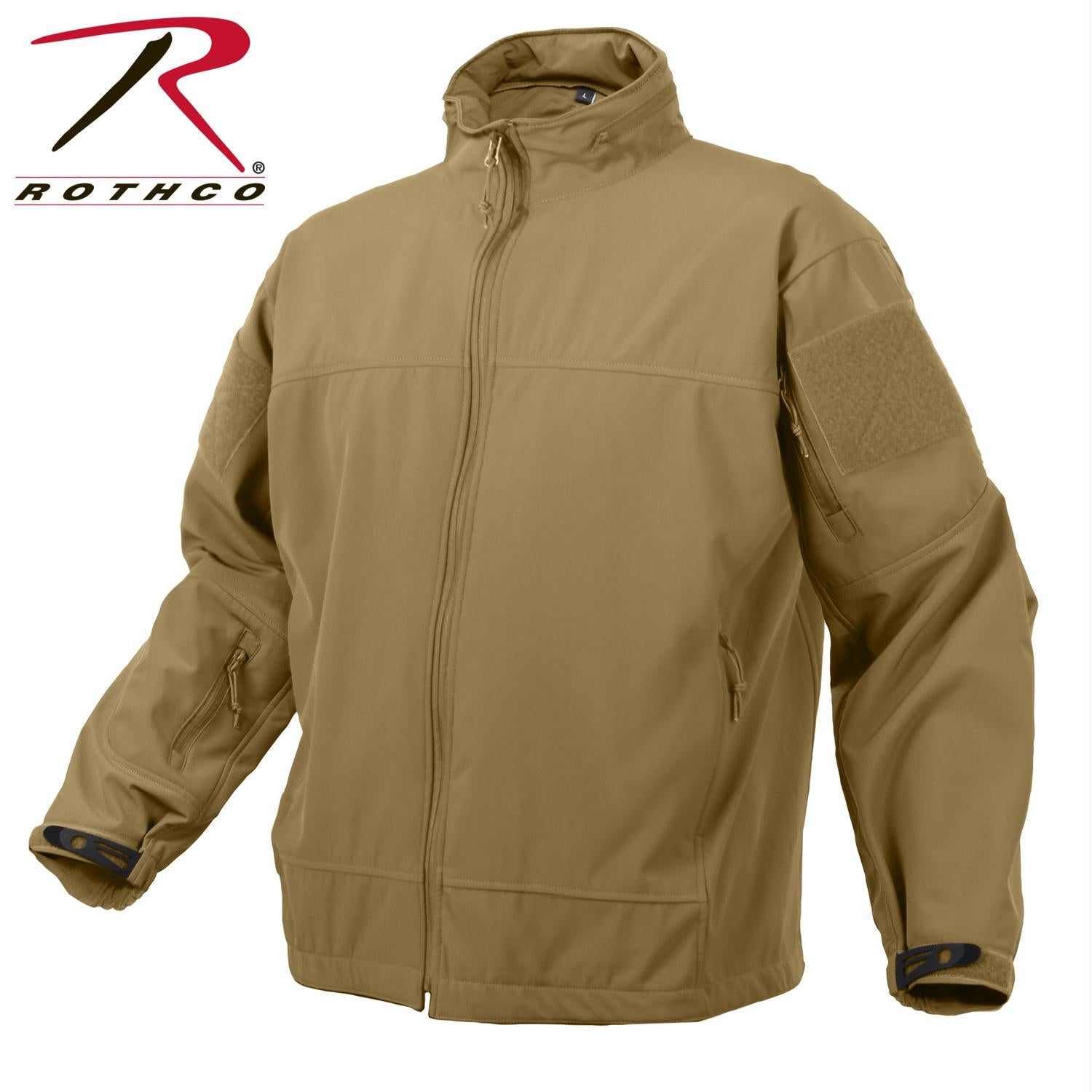Rothco Covert Ops Light Weight Soft Shell Jacket - Coyote Brown / S