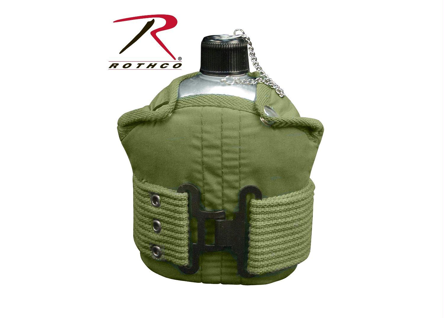 Rothco Aluminum Canteen And Pistol Belt Kit - Olive Drab