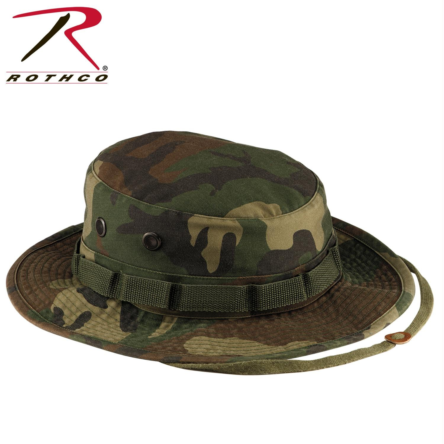 Rothco Vintage Boonie Hat - Woodland Camo / 6 3/4