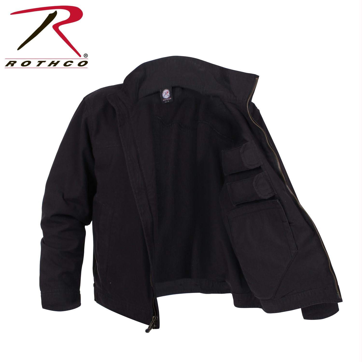 Rothco Lightweight Concealed Carry Jacket - Black / 4XL