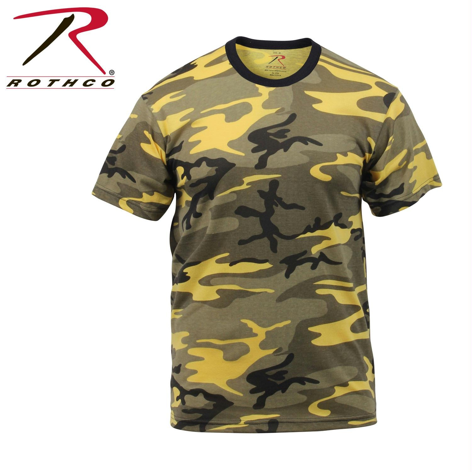 Rothco Colored Camo T-Shirts - Stinger Yellow Camo / L