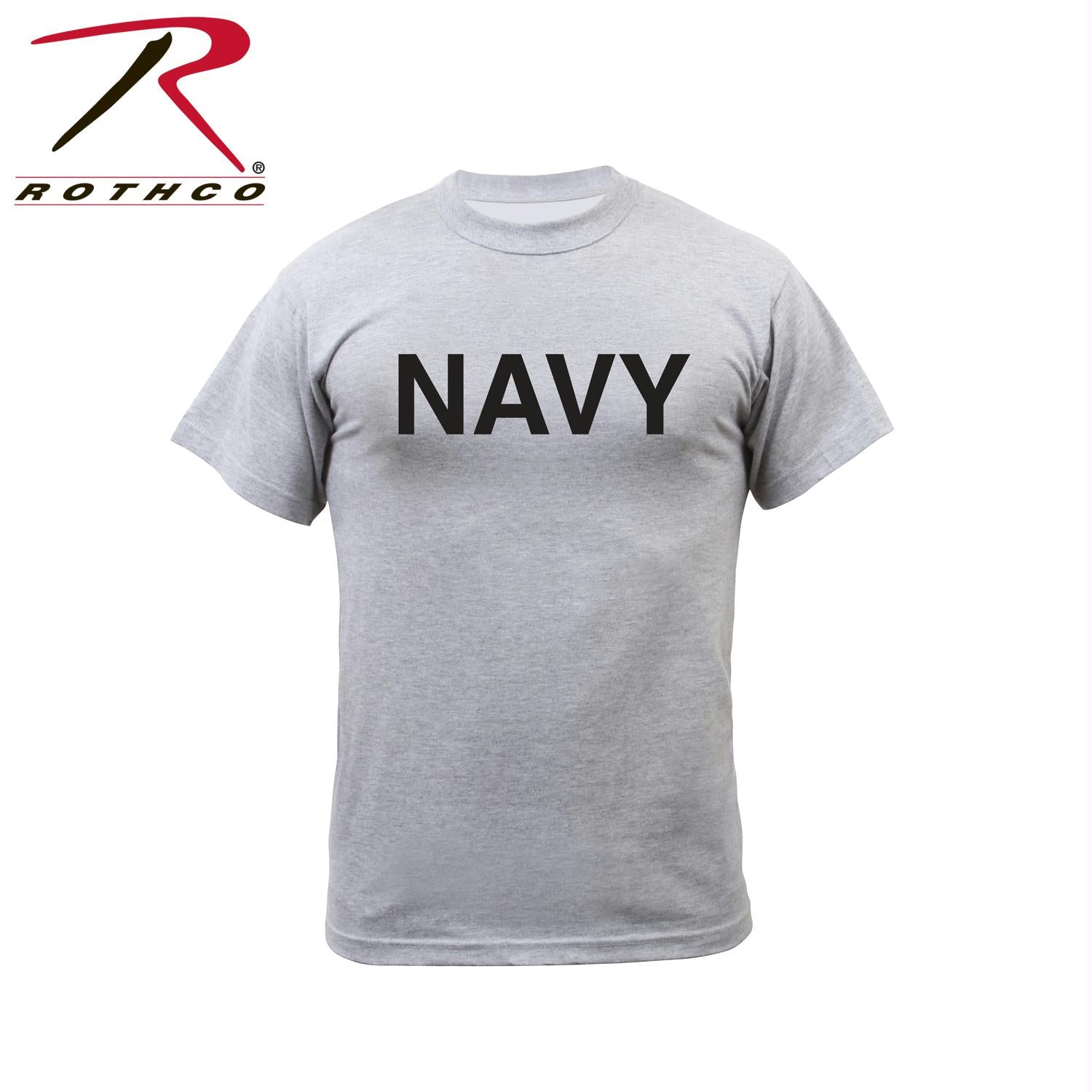 Rothco Grey Physical Training T-Shirt - Navy / 3XL