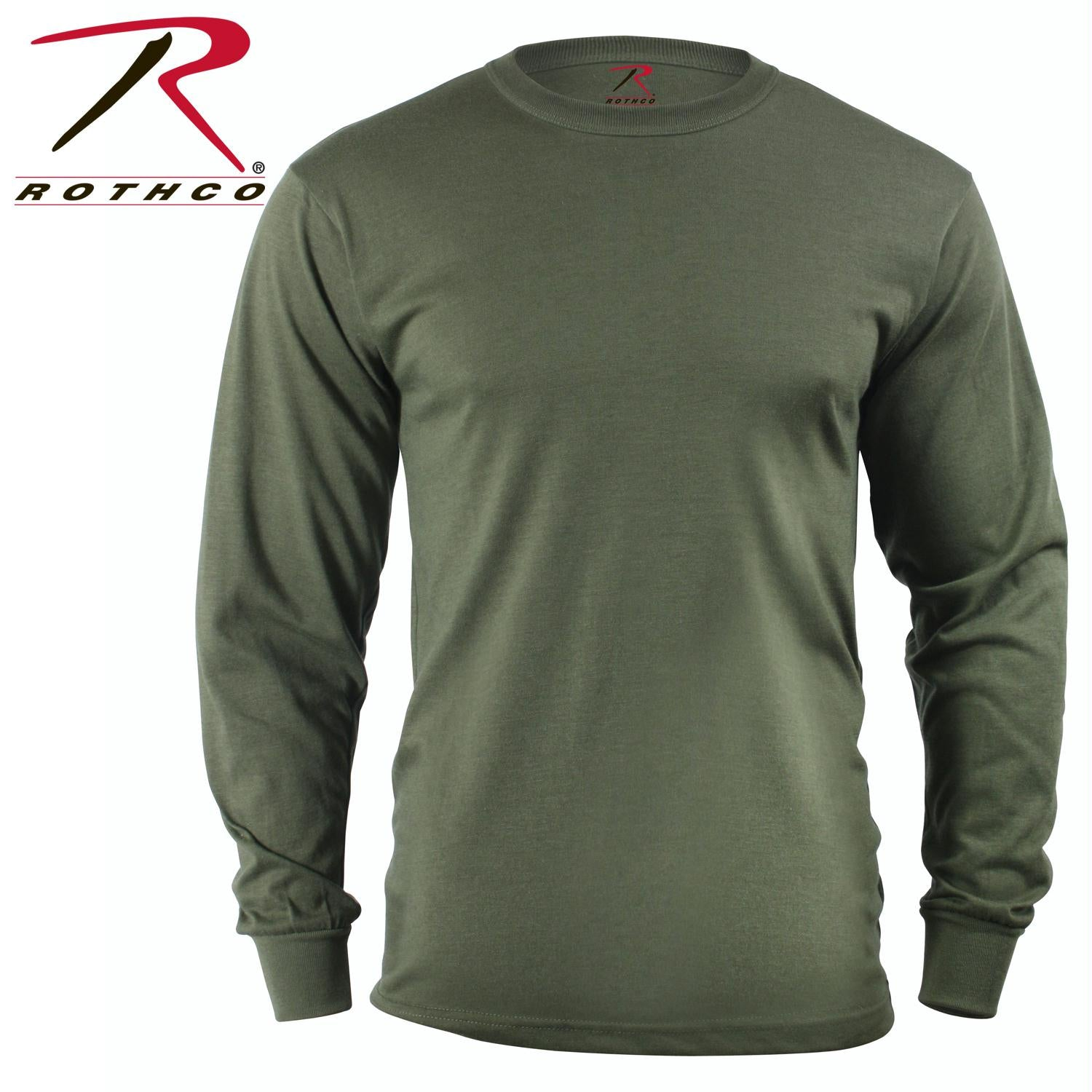 Rothco Long Sleeve Solid T-Shirt - Olive Drab / 3XL