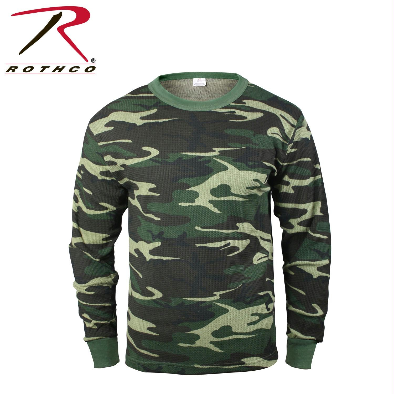 Rothco Thermal Knit Underwear Top - Woodland Camo / M