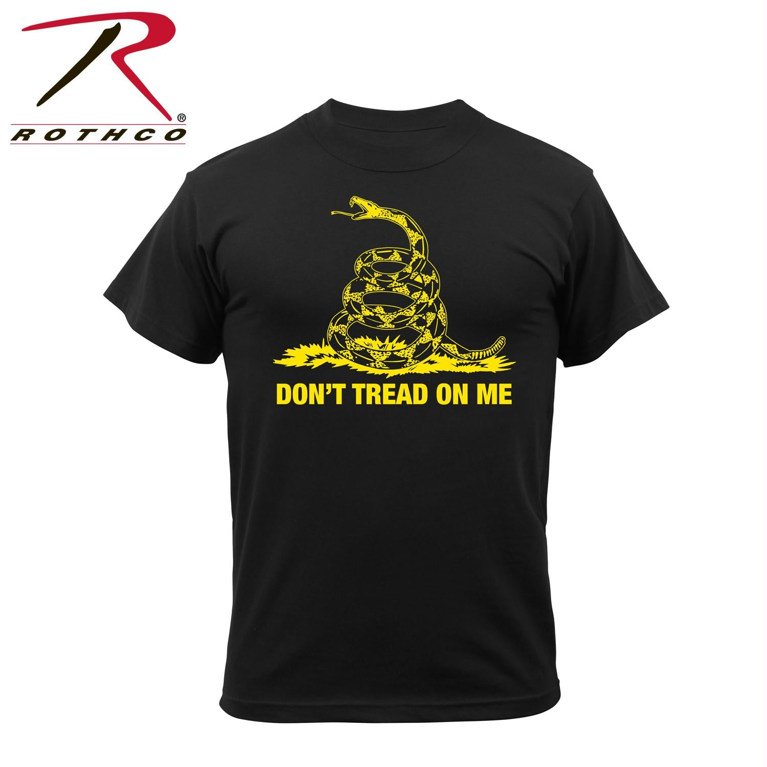 Rothco Don't Tread On Me Vintage T-Shirt - Black / L