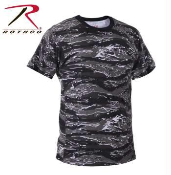 Rothco Tiger Stripe Camo T-Shirts - Urban Tiger Stripe Camo / XS