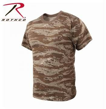 Rothco Tiger Stripe Camo T-Shirts - Desert Tiger Stripe Camo / 3XL