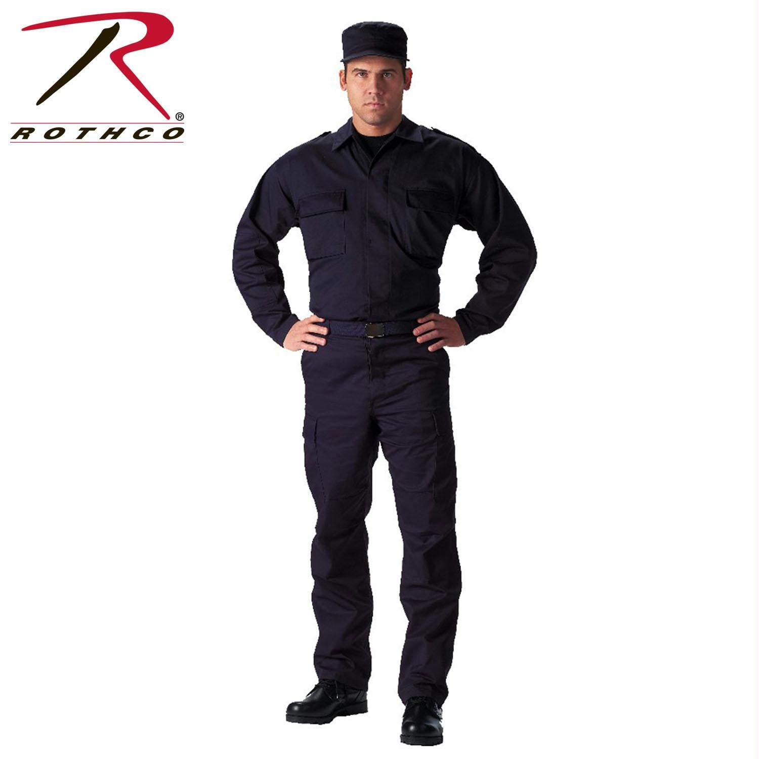 Rothco Tactical BDU Shirts - Navy Blue / S