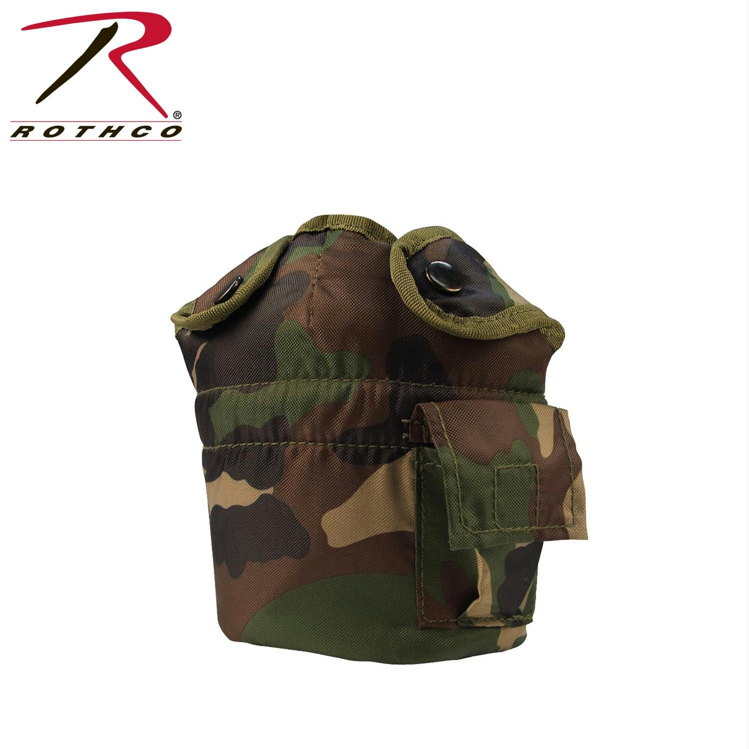 Rothco G.I. Style Canteen Cover - Woodland Camo