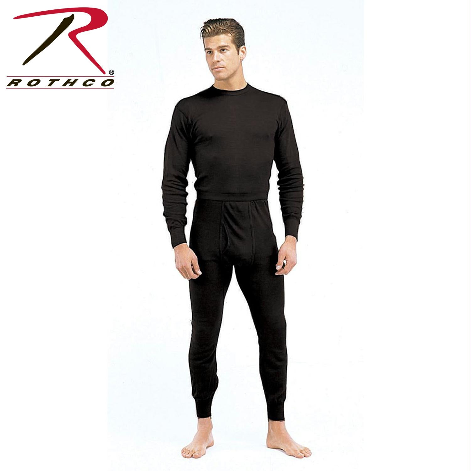 Rothco Single Layer Poly Underwear Tops - Black / S