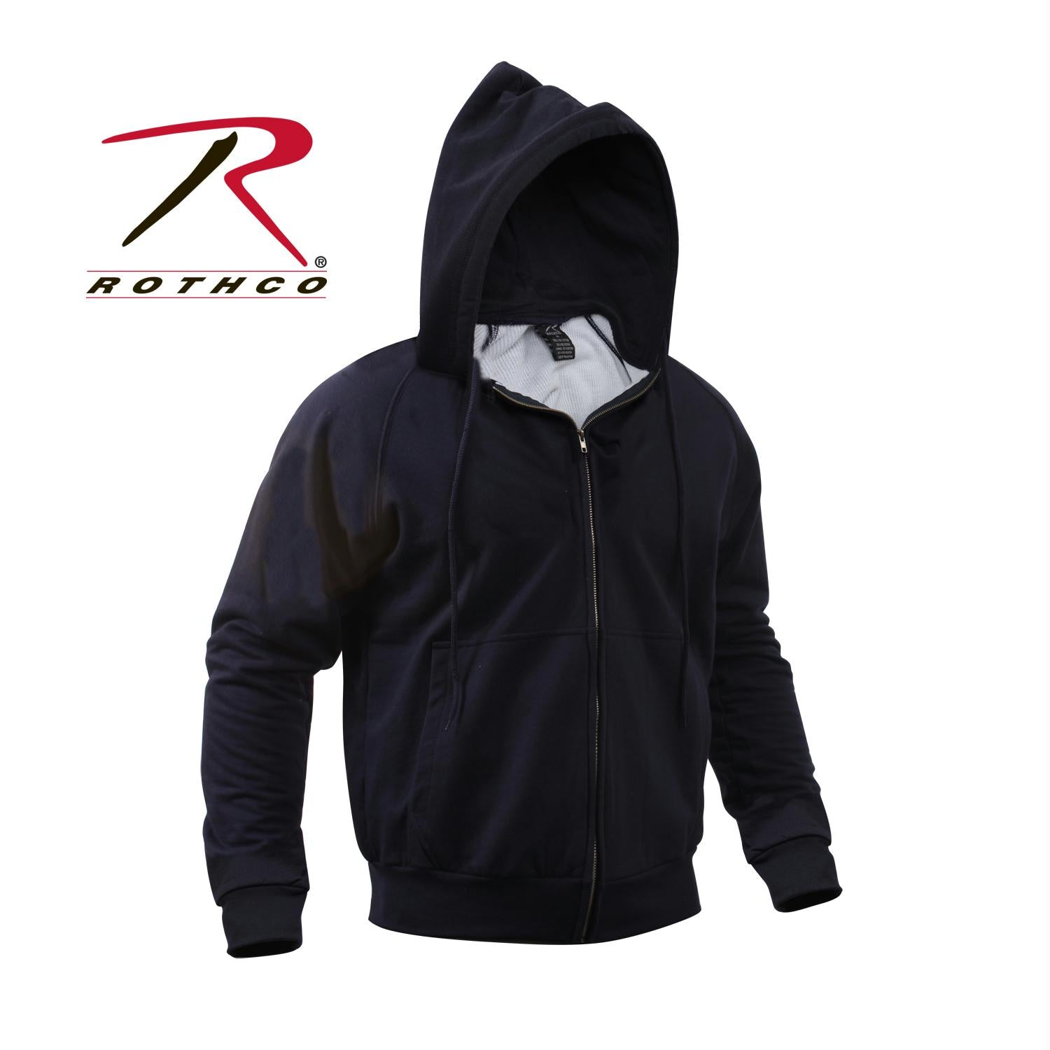Rothco Thermal Lined Hooded Sweatshirt - Navy Blue / M