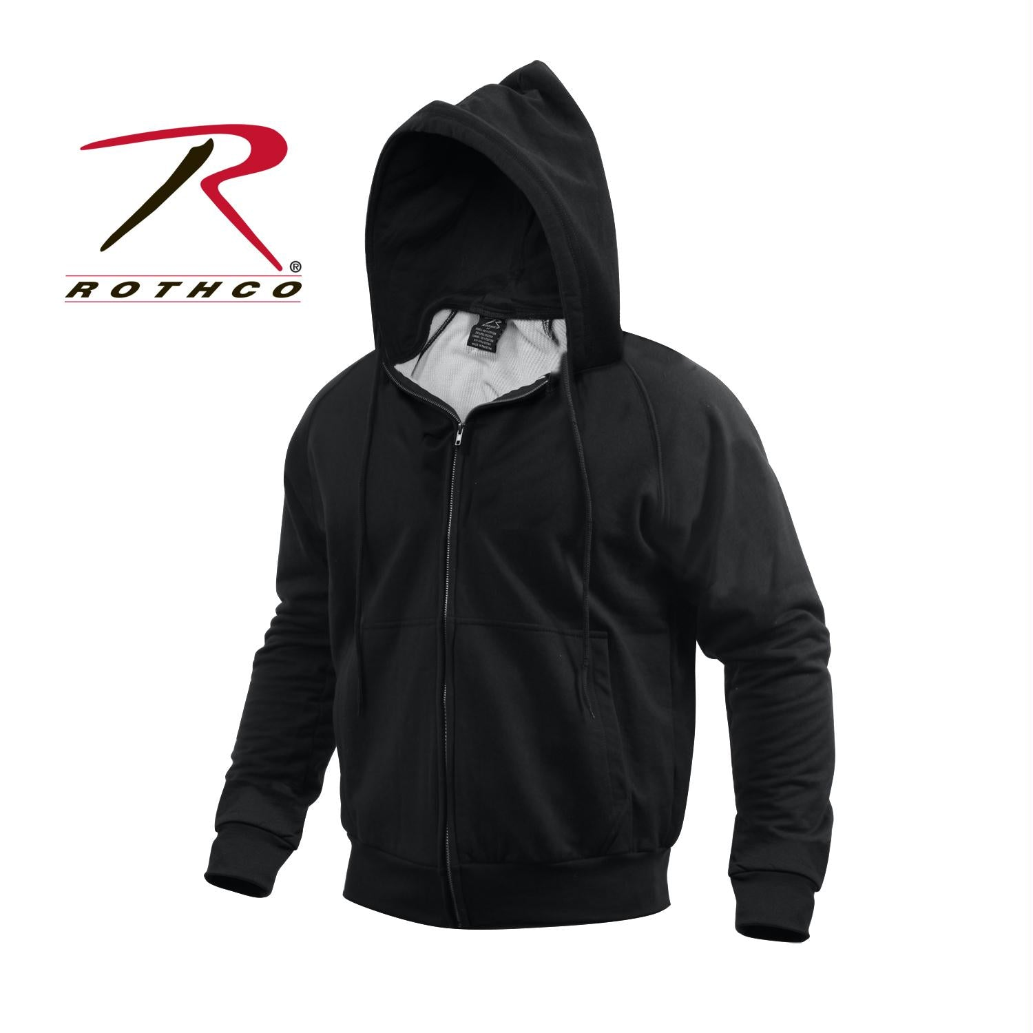 Rothco Thermal Lined Hooded Sweatshirt - Black / L
