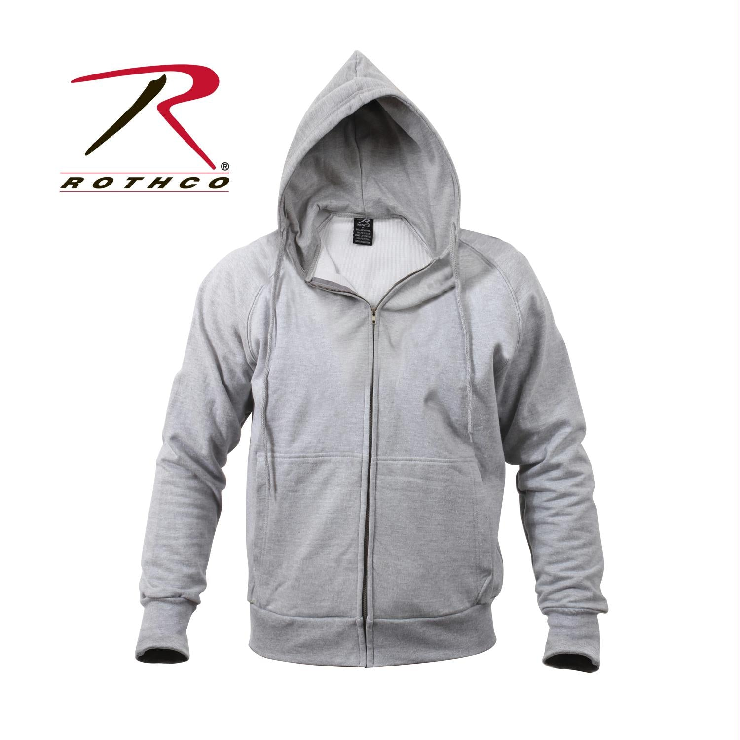 Rothco Thermal Lined Hooded Sweatshirt - Grey / L