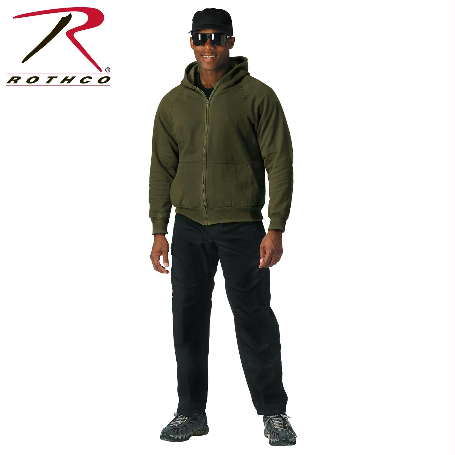 Rothco Thermal Lined Hooded Sweatshirt - Olive Drab / 2XL