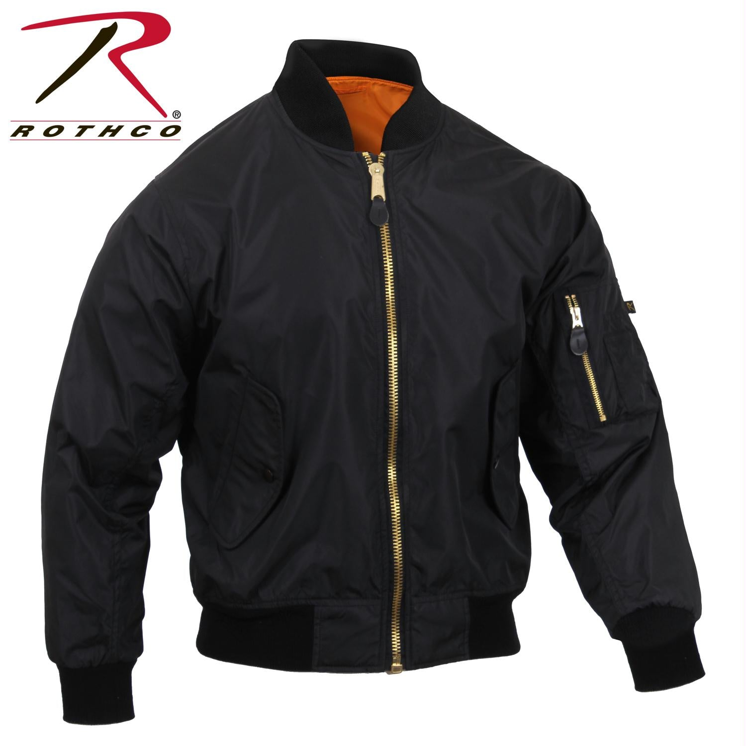 Rothco Lightweight MA-1 Flight Jacket - Black / S
