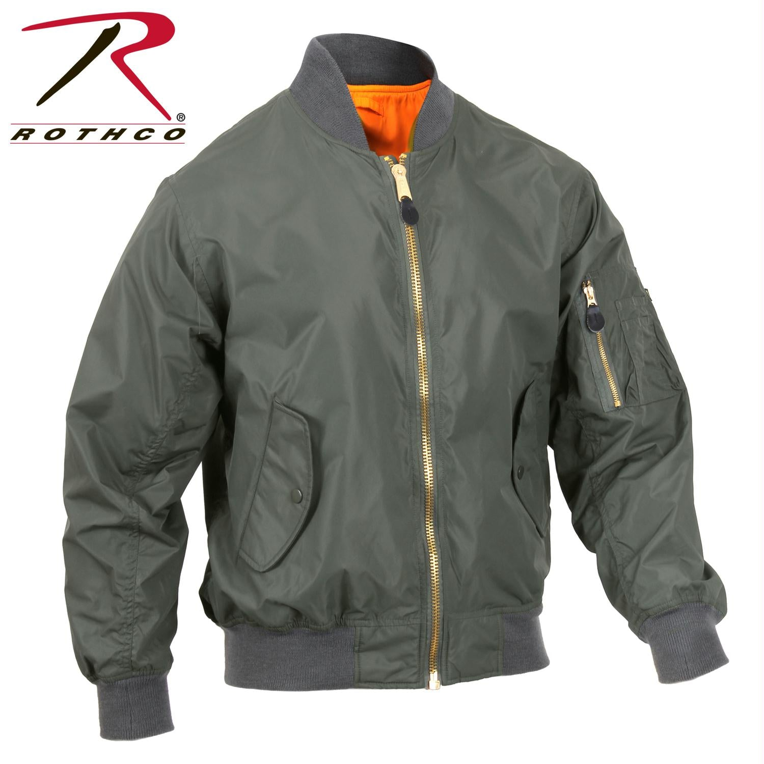 Rothco Lightweight MA-1 Flight Jacket - Sage Green / 2XL