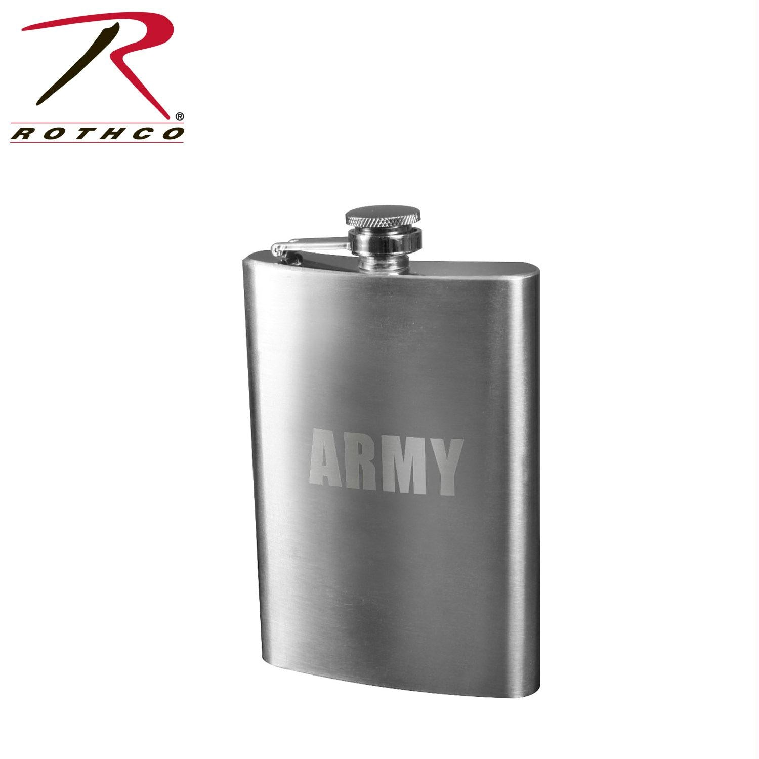 Rothco Engraved Stainless Steel Flasks - Army