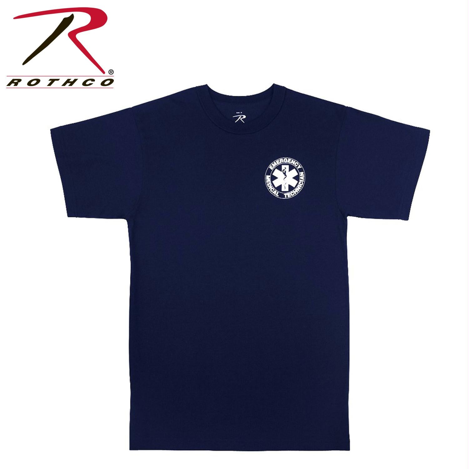 Rothco 2-Sided EMT T-Shirt - Navy Blue / 3XL