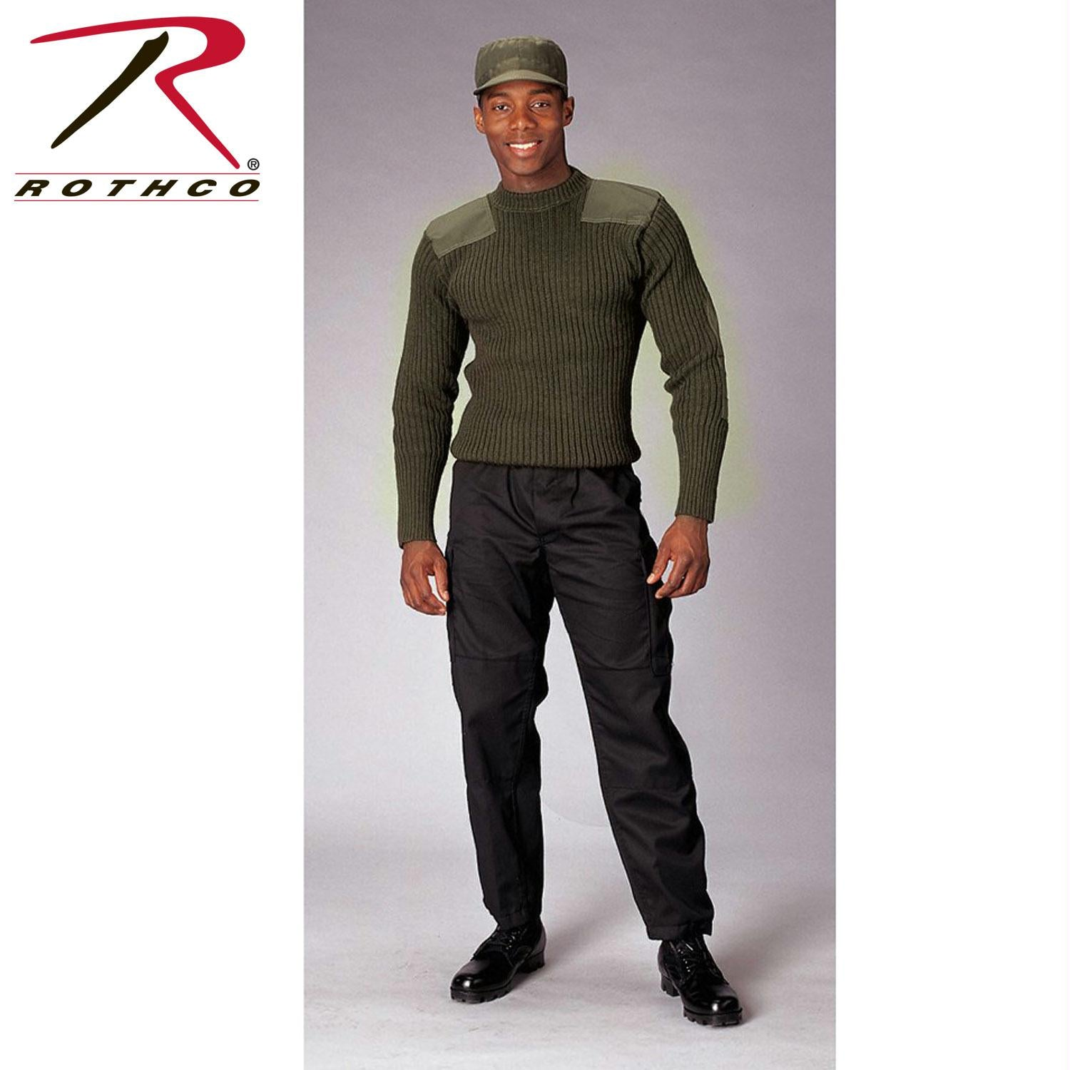 Rothco Government Type Wool Commando Sweater - 44 / Olive Drab