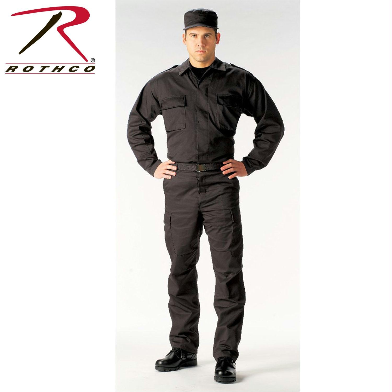 Rothco Tactical BDU Shirts - Black / S