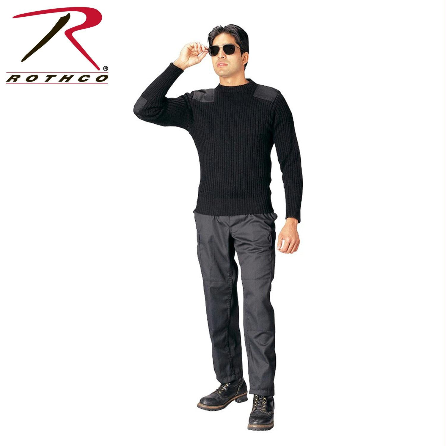 Rothco Government Type Wool Commando Sweater - 50 / Black