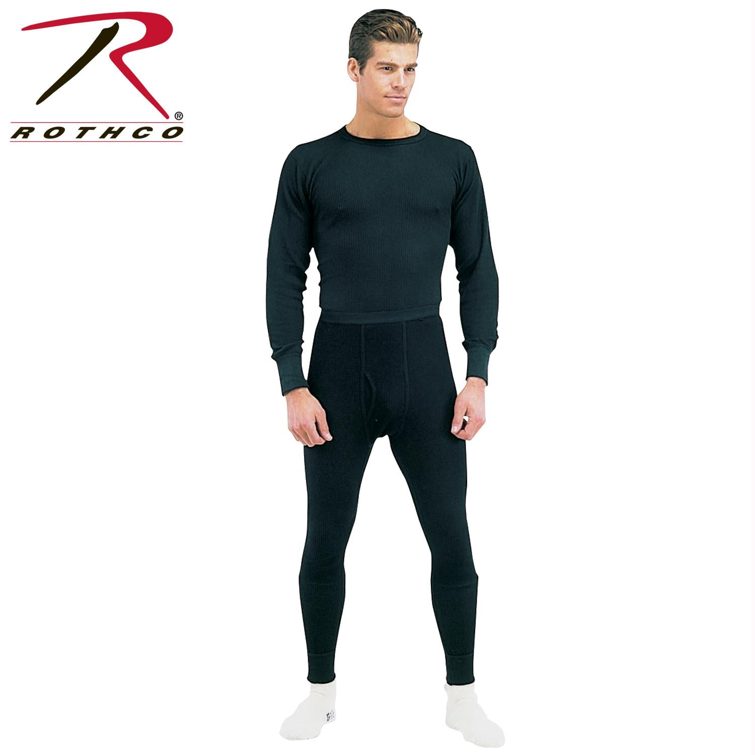 Rothco Thermal Knit Underwear Top - Black / L