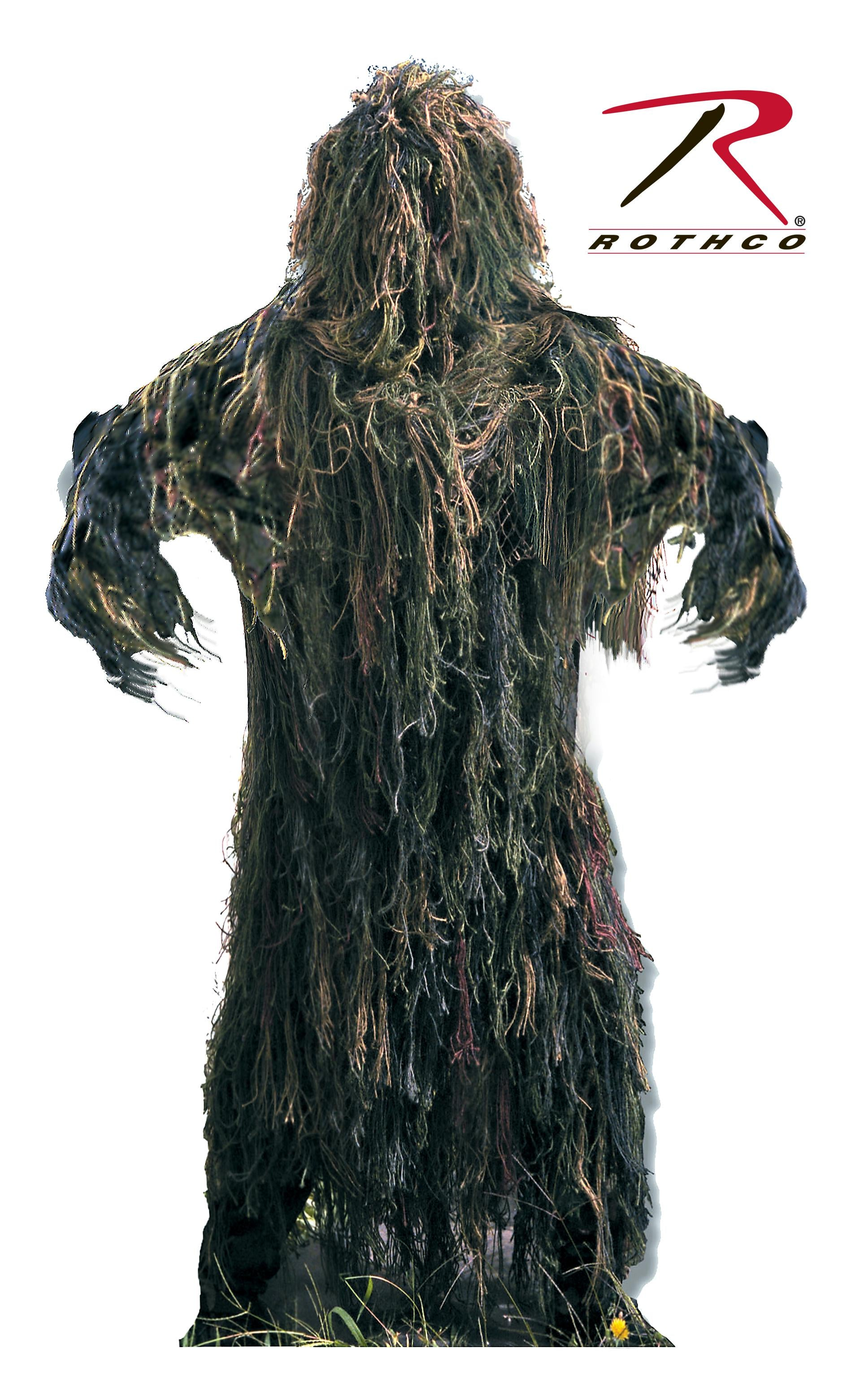 Rothco Lightweight All Purpose Ghillie Suit - Woodland Camo / M/L