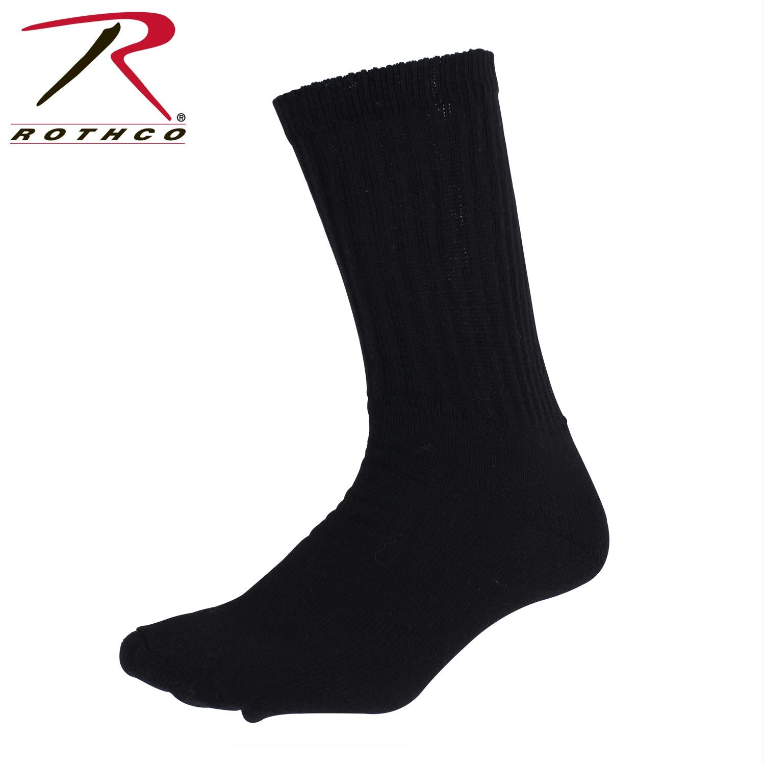Rothco Athletic Crew Socks - Black / L