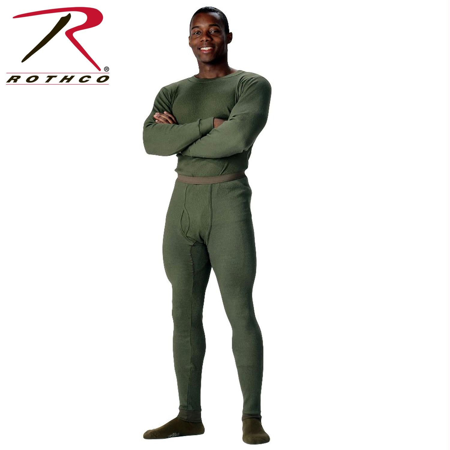 Rothco Thermal Knit Underwear Bottoms - Olive Drab / L