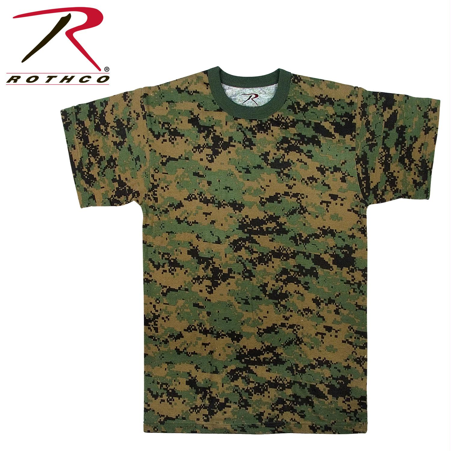 Rothco Digital Camo T-Shirt - Woodland Digital Camo / M