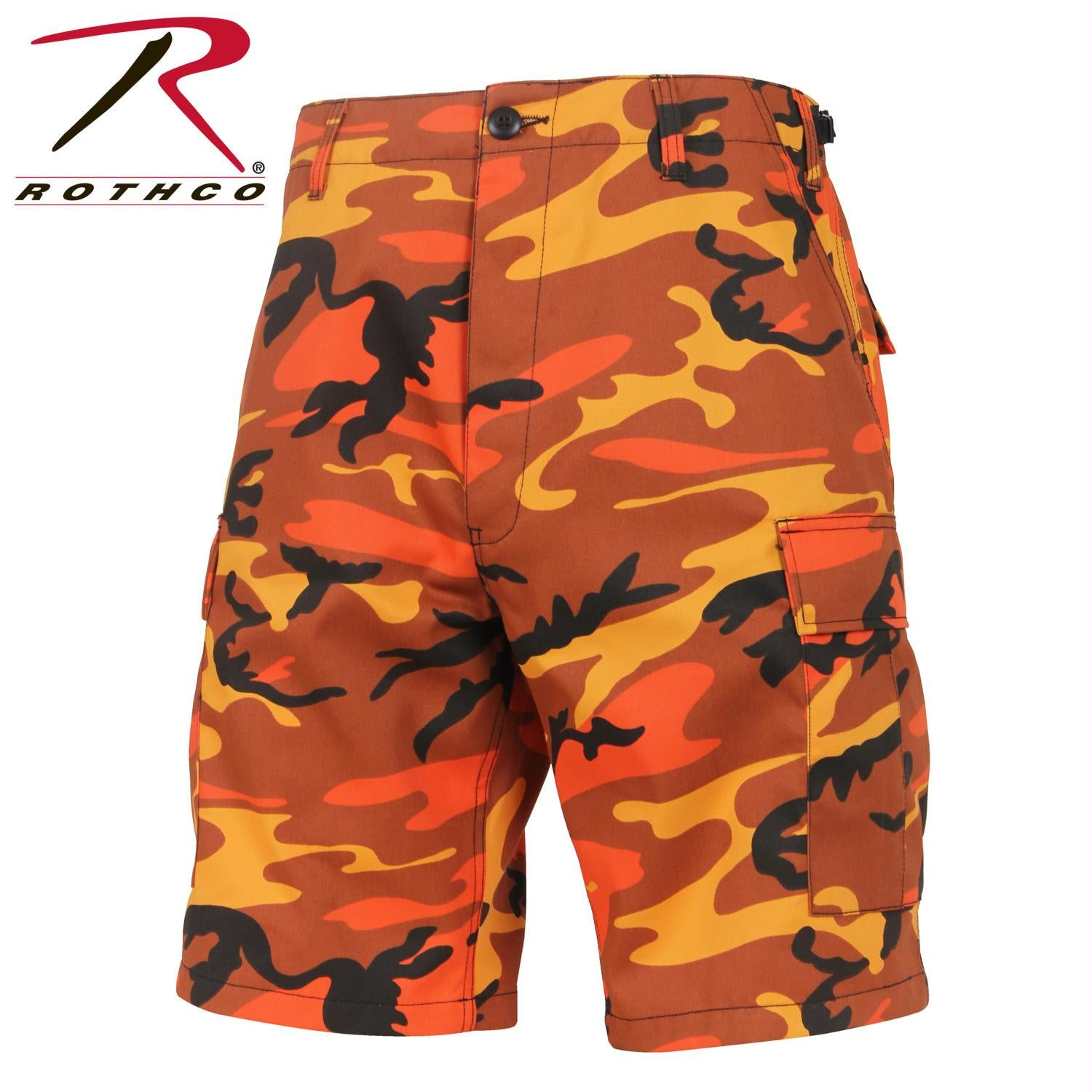 Rothco Colored Camo BDU Shorts - Savage Orange Camo / S