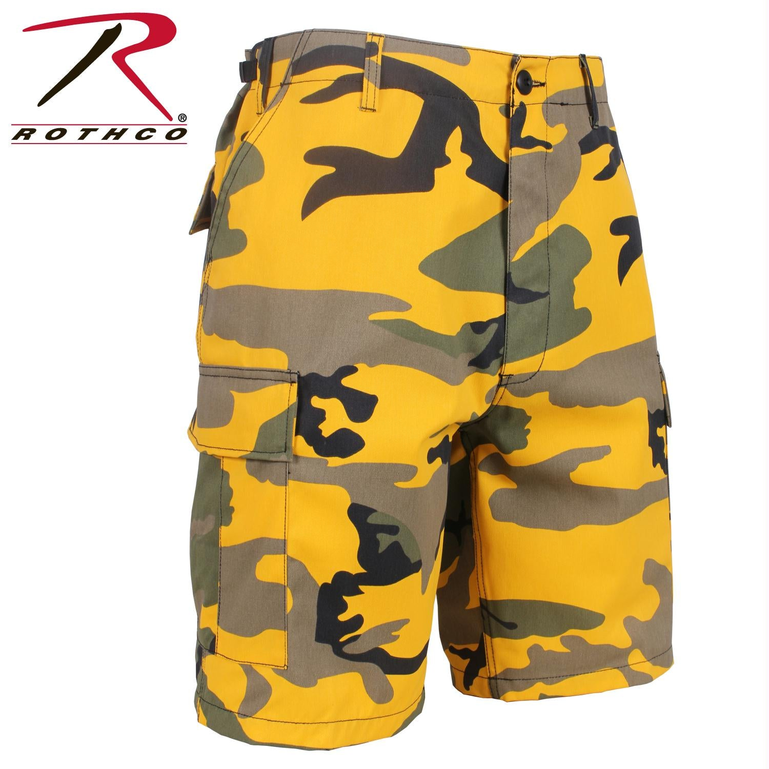 Rothco Colored Camo BDU Shorts - Stinger Yellow Camo / XL