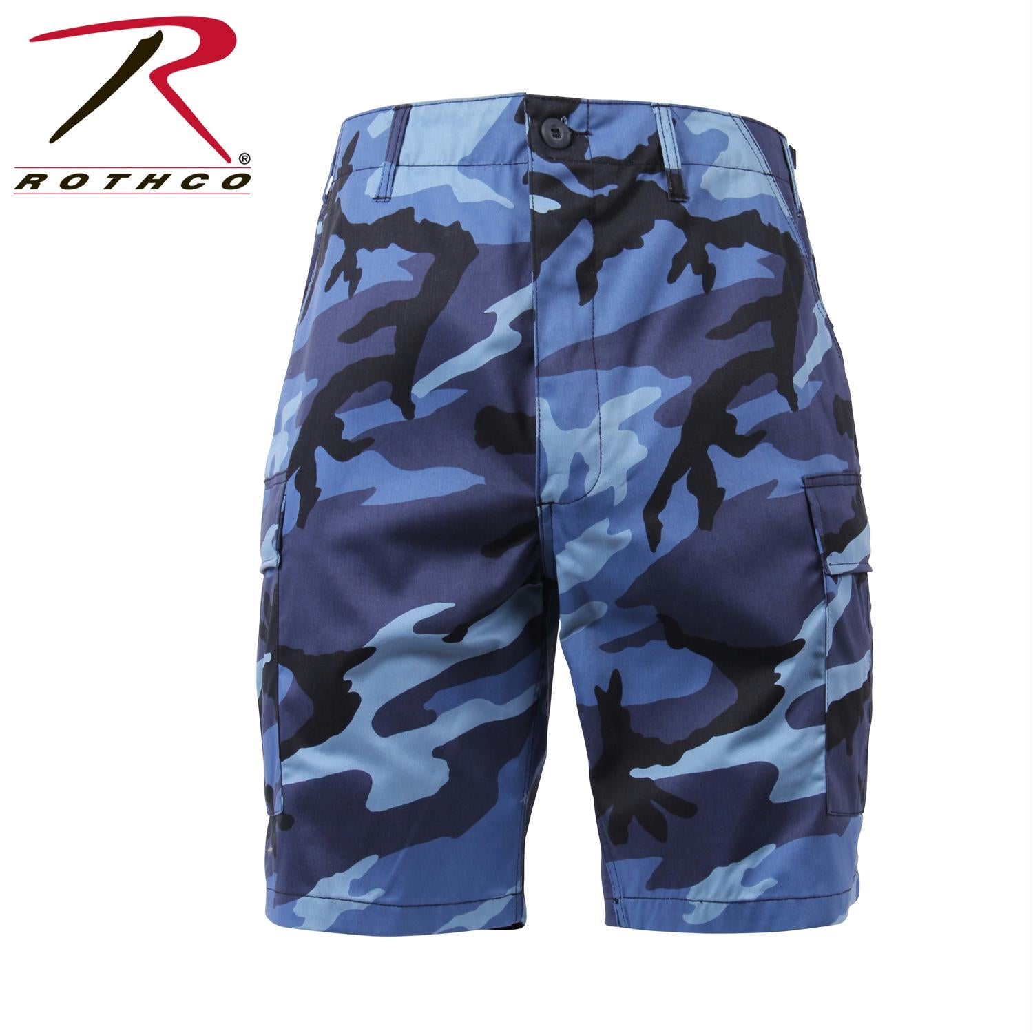 Rothco Colored Camo BDU Shorts - Sky Blue Camo / S