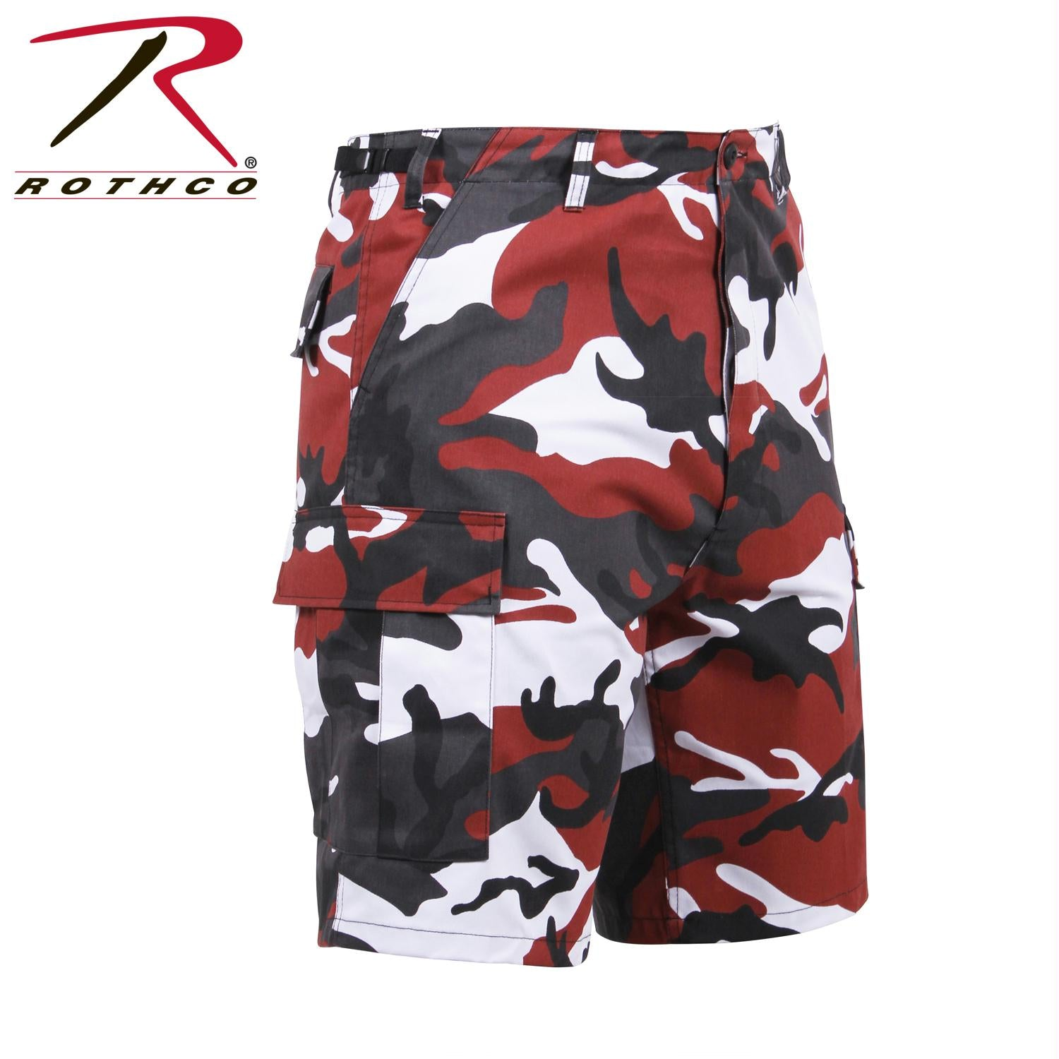 Rothco Colored Camo BDU Shorts - Red Camo / XS