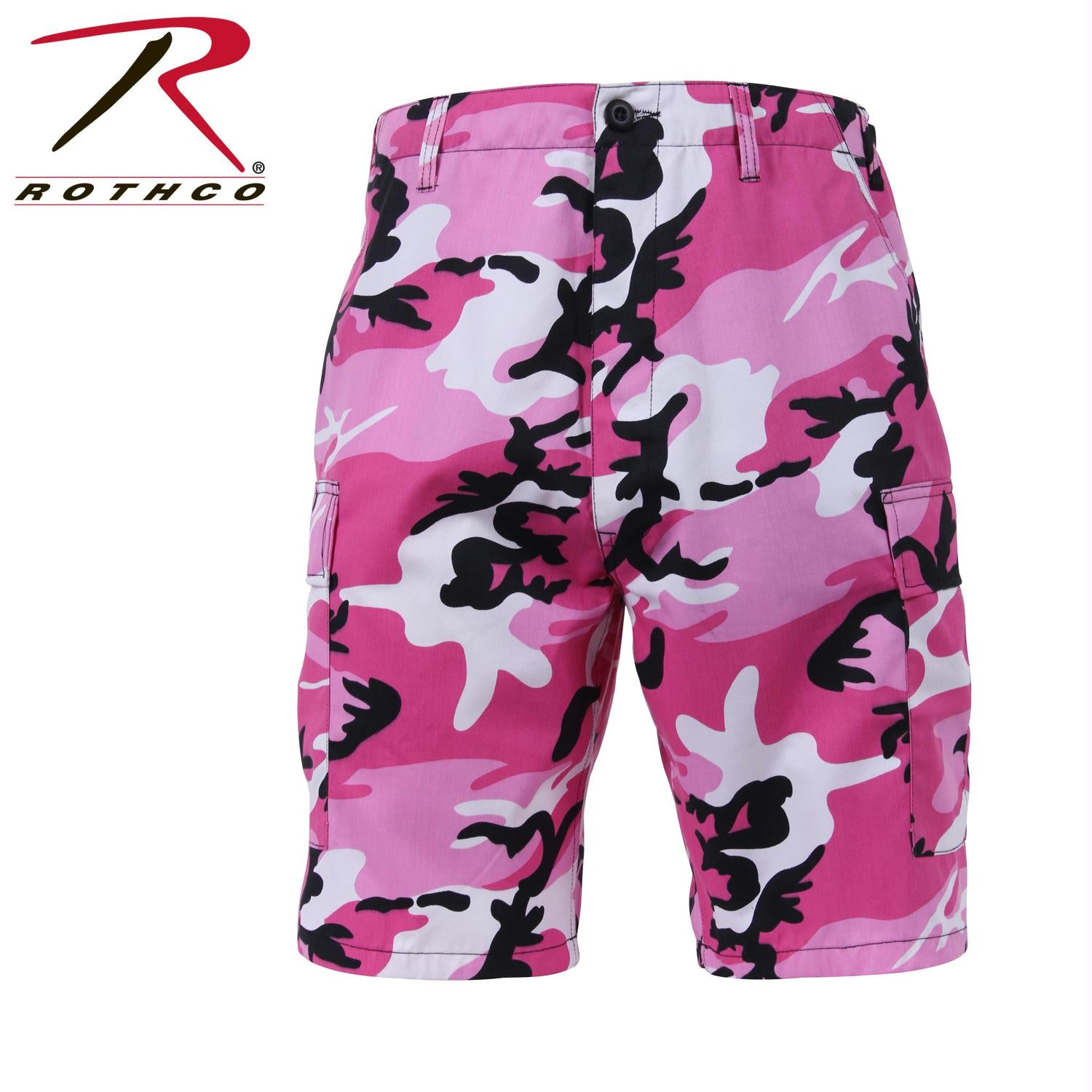 Rothco Colored Camo BDU Shorts - Pink Camo / L