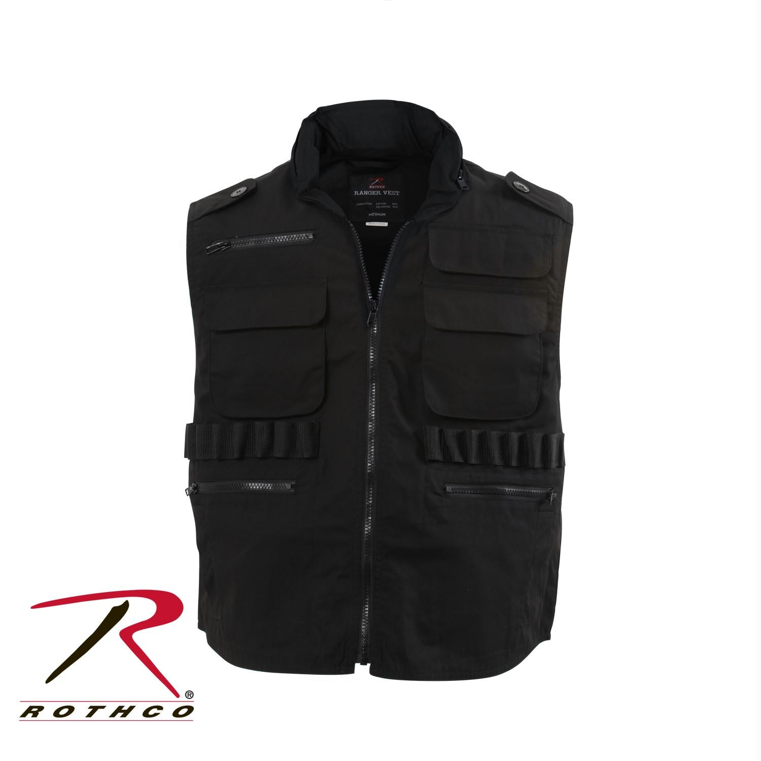 Rothco Ranger Vests - Black / 5XL