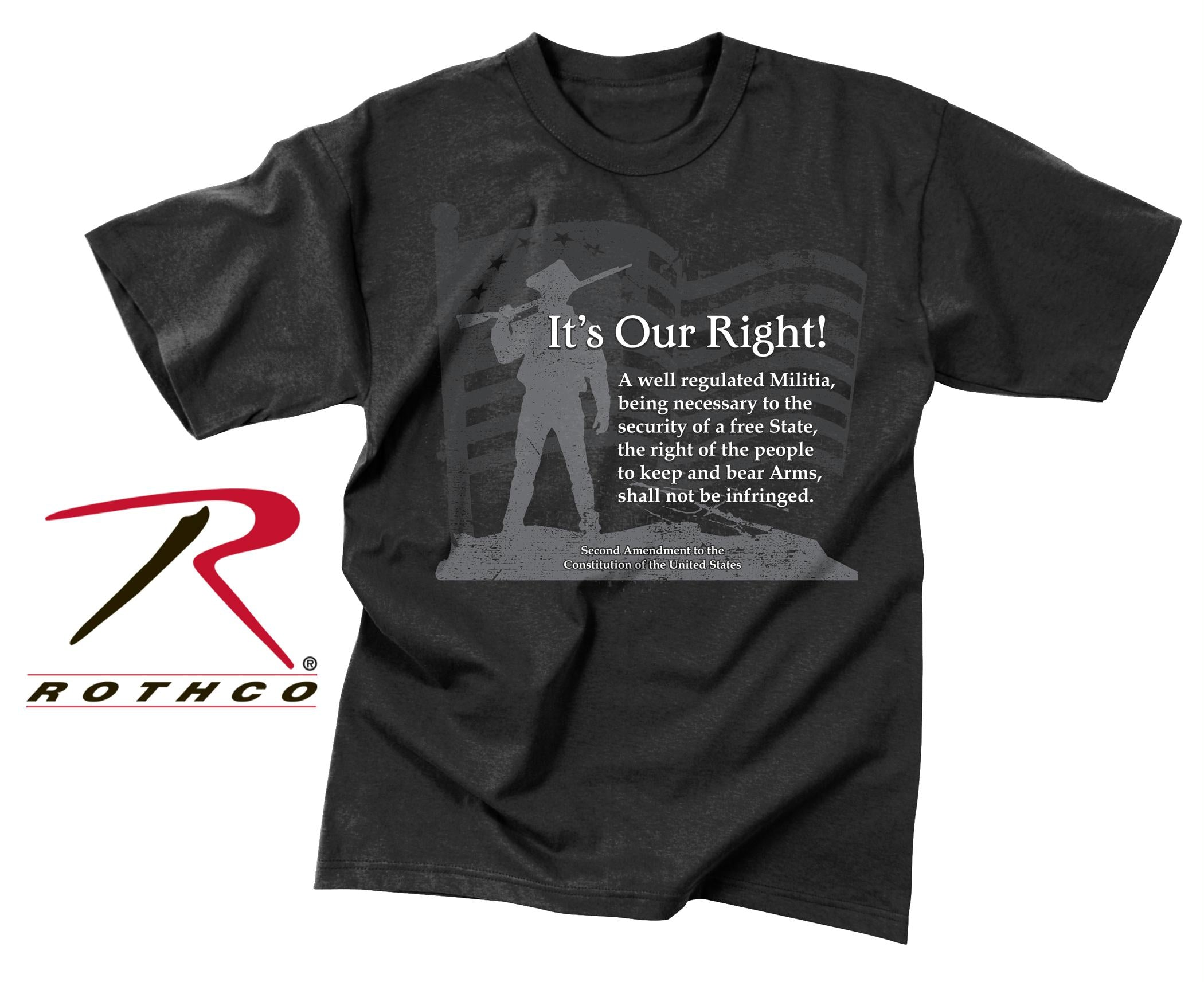 Rothco Vintage ''It's Our Right'' T-Shirt - 3XL