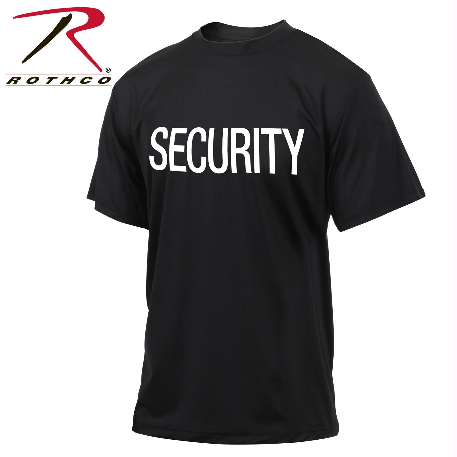 Rothco Quick Dry Performance Security T-Shirt - Black / 3XL