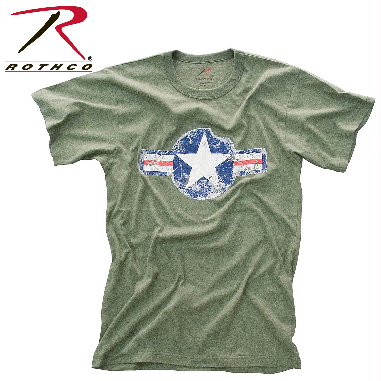 Rothco Vintage Army Air Corps T-Shirt - Olive Drab / XL