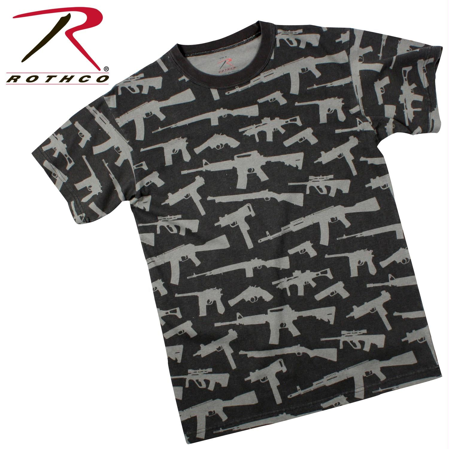 Rothco Vintage 'Guns' T-Shirt - Black / S