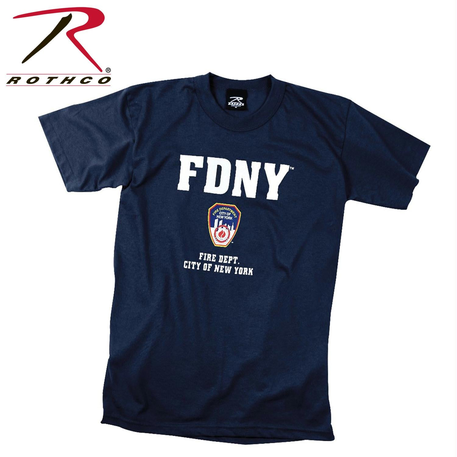 Officially Licensed FDNY T-shirt - Navy Blue / 2XL