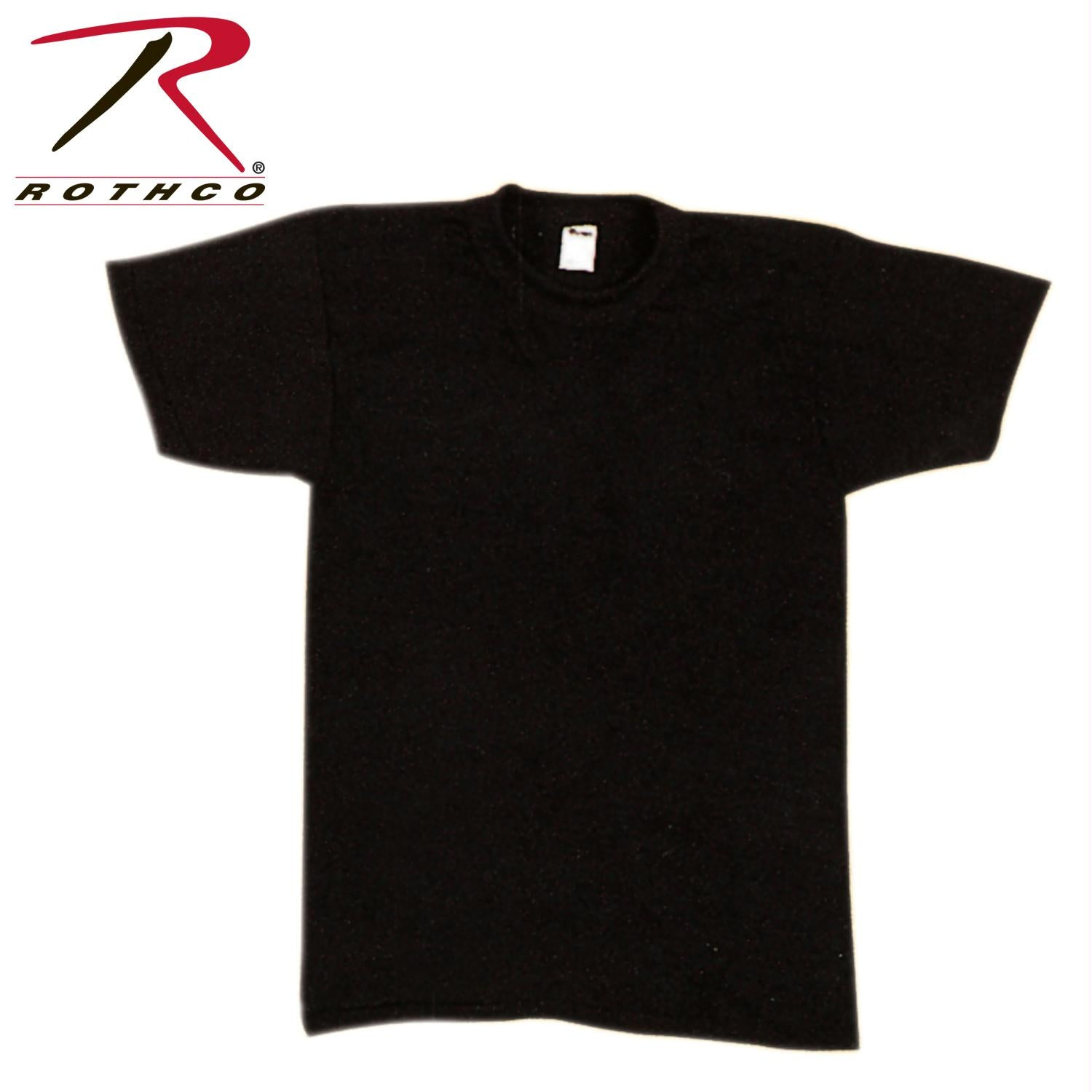 Rothco Solid Color Poly/Cotton Military T-Shirt - Black / M