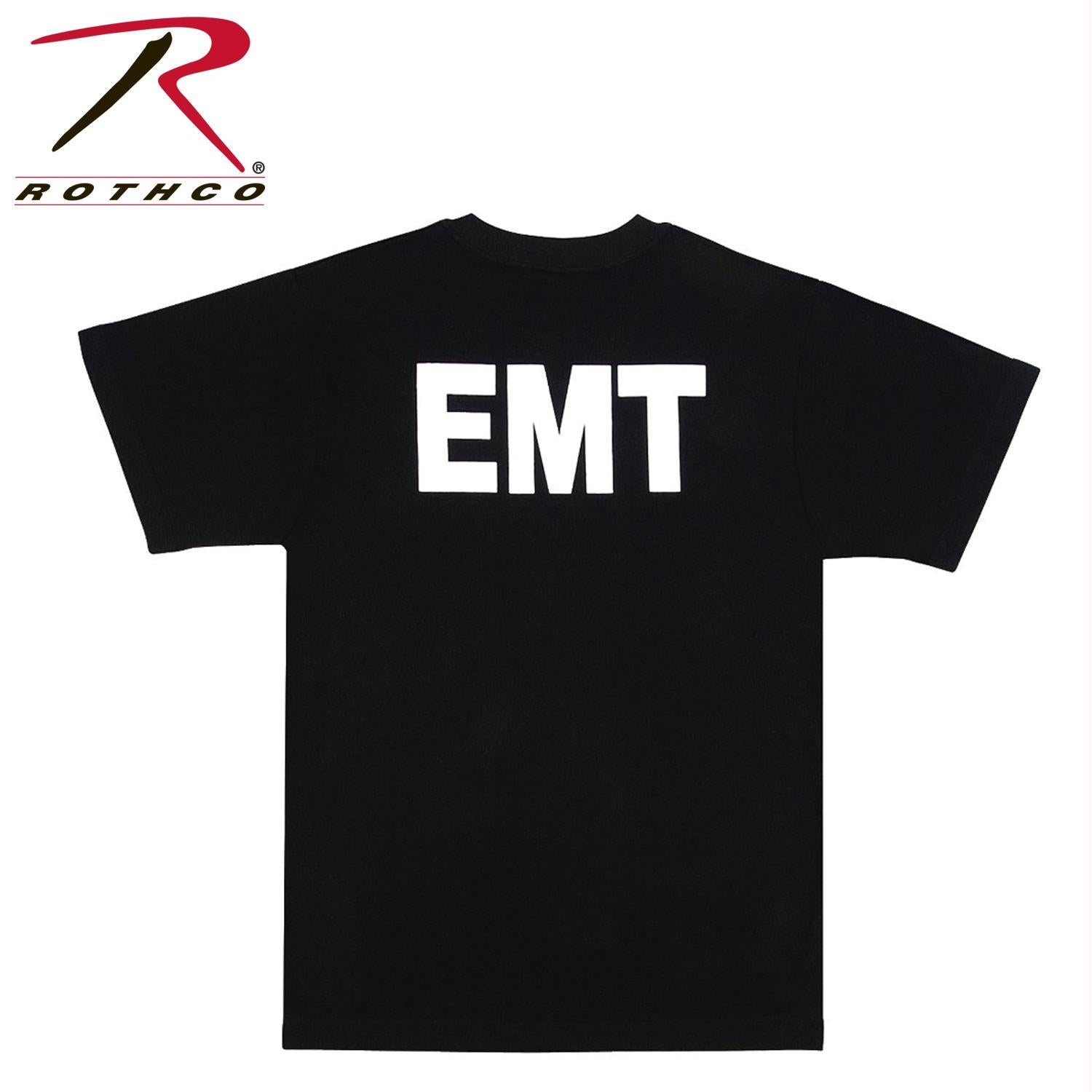 Rothco 2-Sided EMT T-Shirt - Black / 2XL