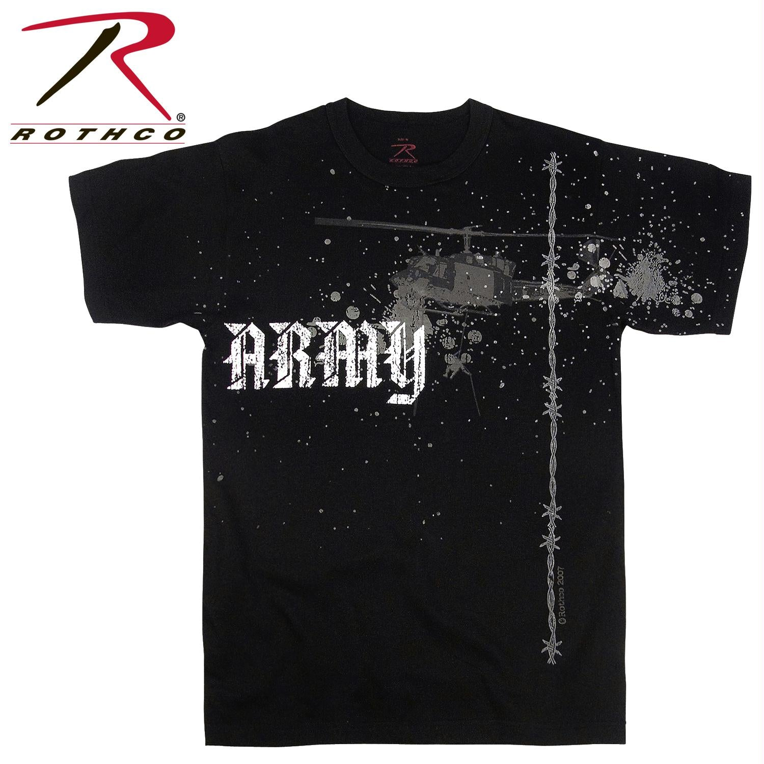 Rothco Vintage Army Helicopter T-Shirt - Black / XL
